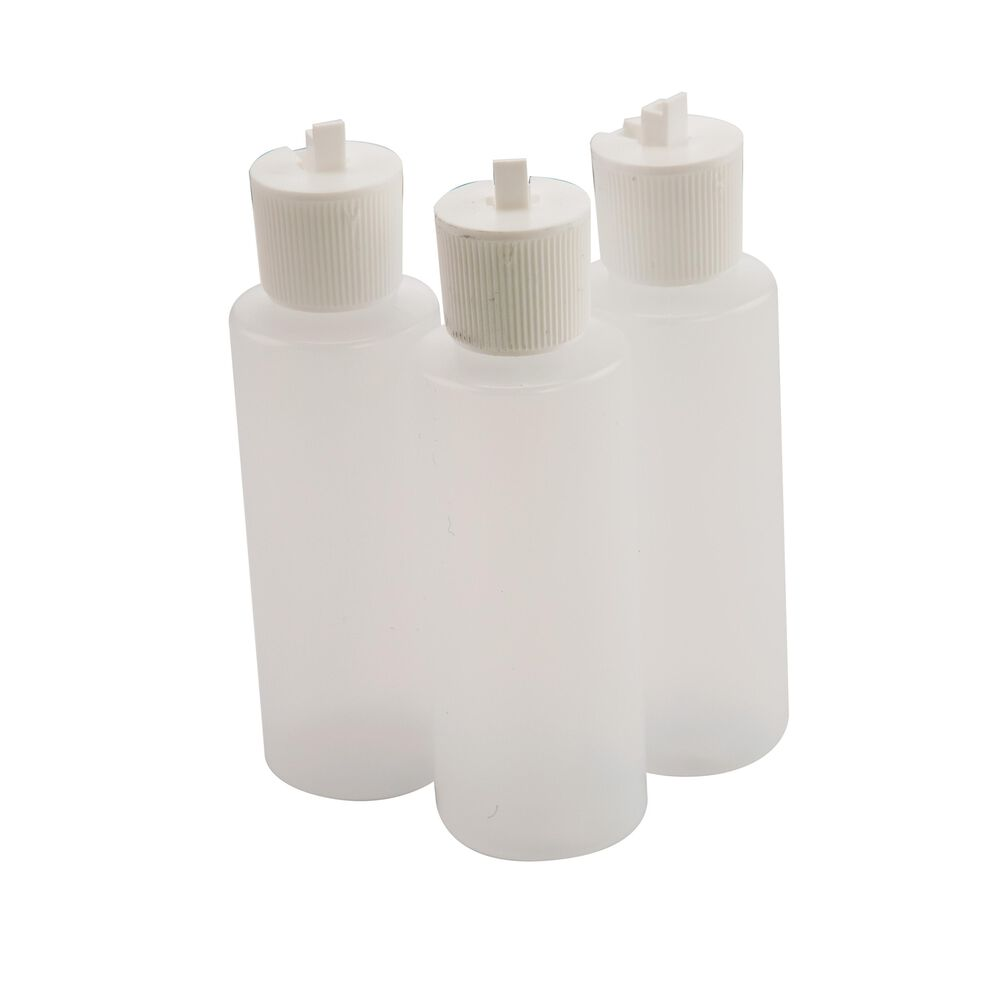 Flip Top Solvent Bottles, 3 pack