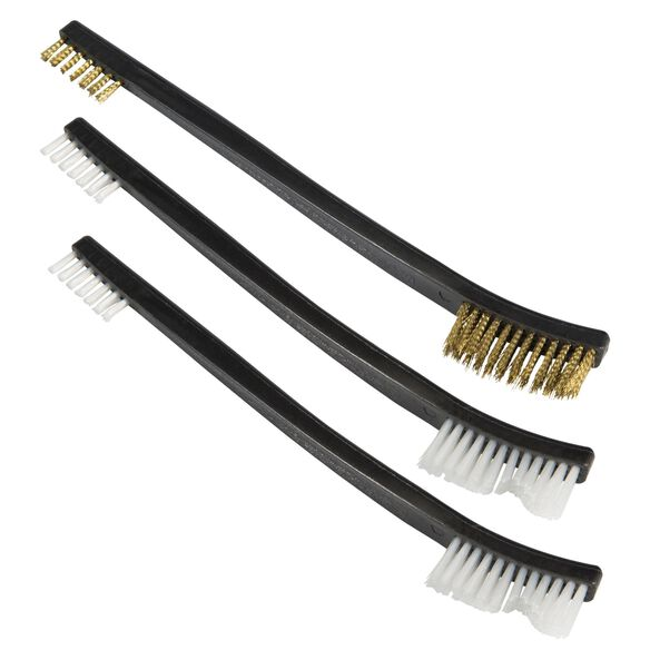 Double Ended Cleaning Brush Set, pack of 3